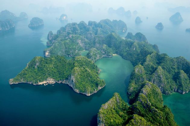 halong bay is the famous film location in vietnam