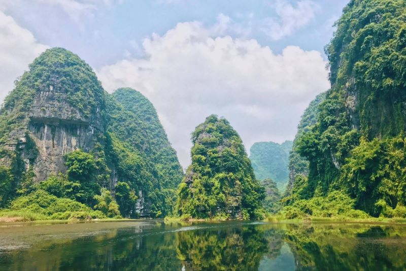the scenes of Ninh Binh in king kong vietnam